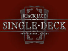 В казино Адмирал автомат Single Deck Blackjack Professional Series